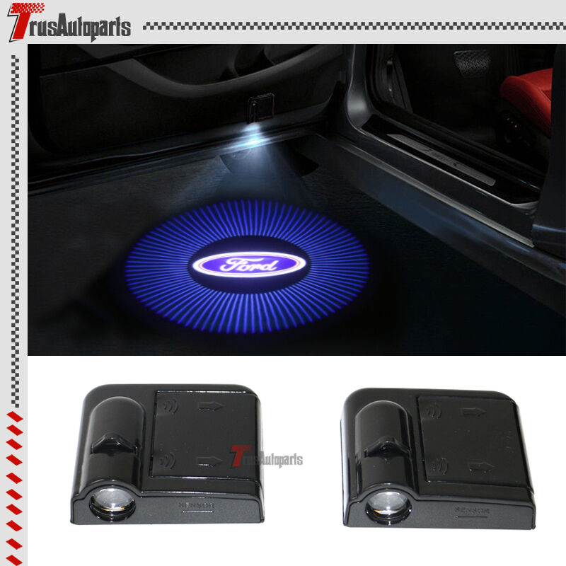 2x For Ford Logo Wireless Car Door Welcome Laser Projector