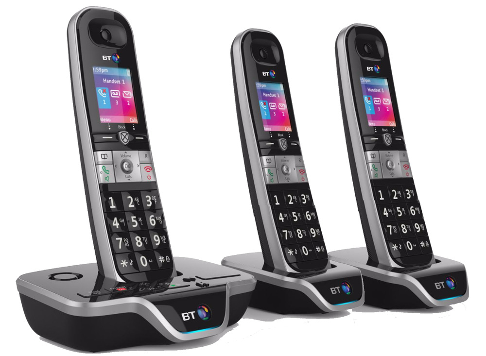 bt8600 call blocker trio digital cordless phone with. Black Bedroom Furniture Sets. Home Design Ideas