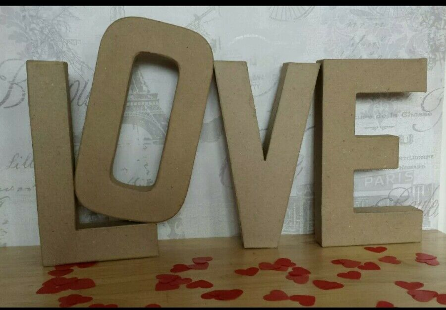 large cardboard letters paper mache cardboard letters signs 3d craft 20 22683 | s l1000