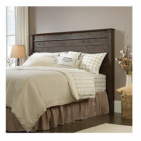 Headboard oak full queen size finish wooden rustic modern - Queen bed ideas for small room ...