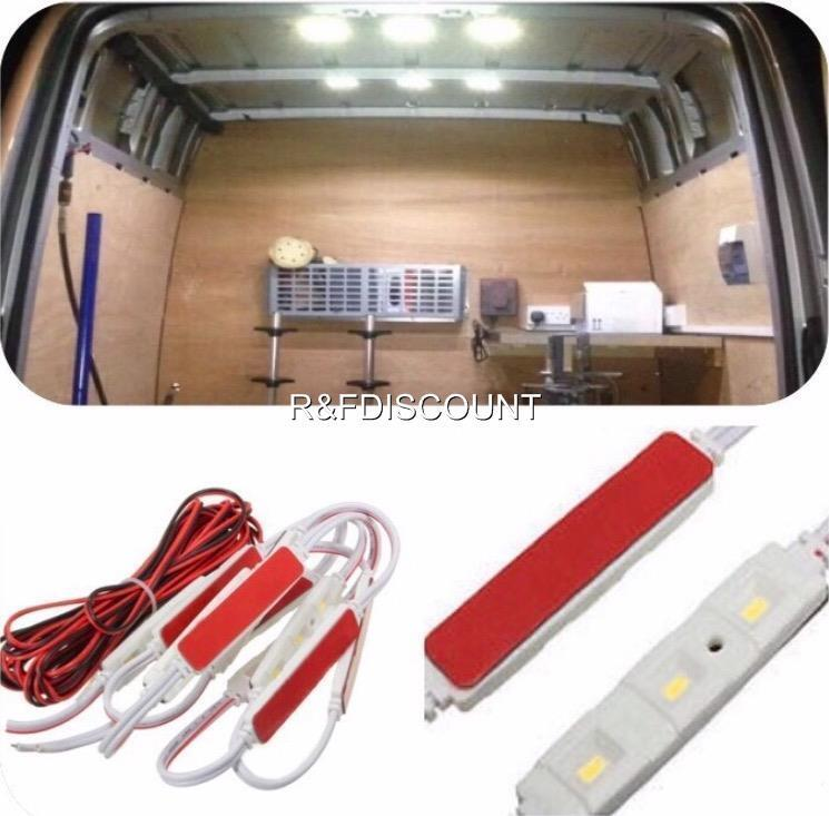 car light kit interior 12v volt white 30 led lwb van sprinter ducato transit vw ebay. Black Bedroom Furniture Sets. Home Design Ideas
