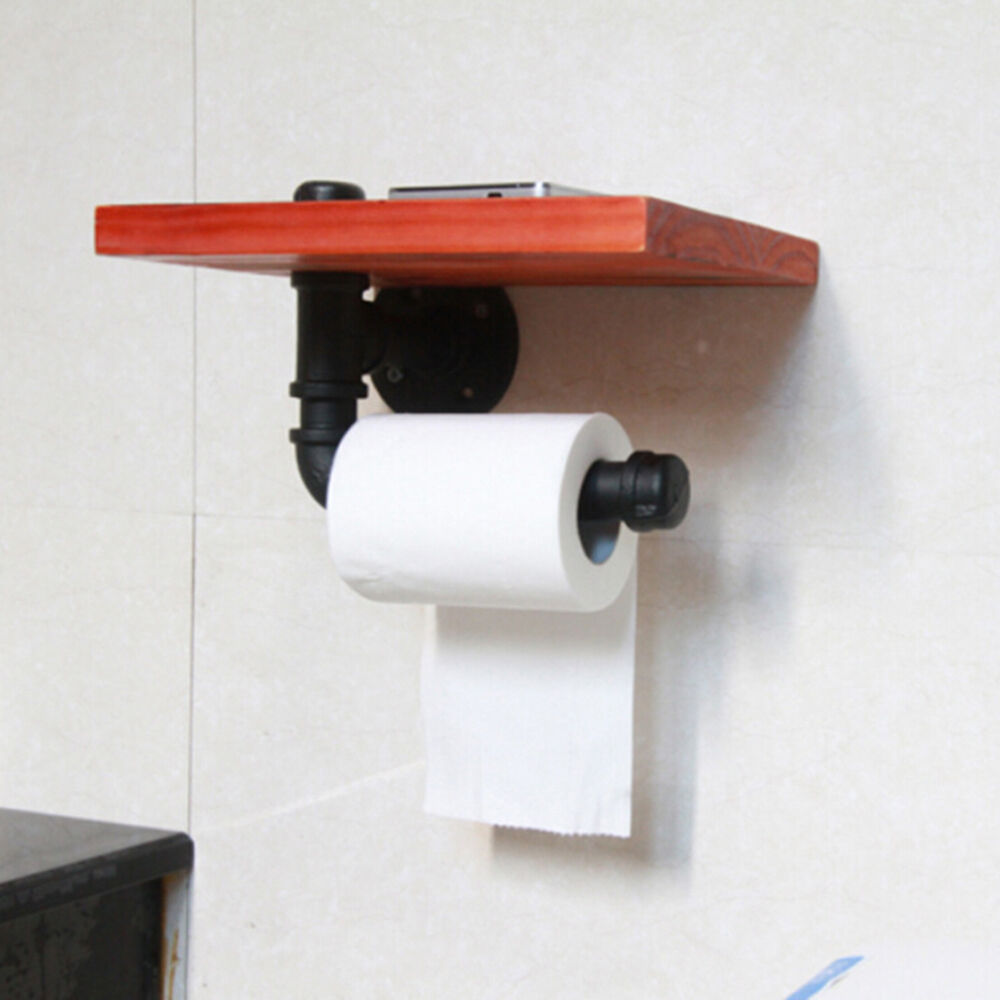 Iron water pipe shelving toilet paper holder creative Creative toilet paper holder