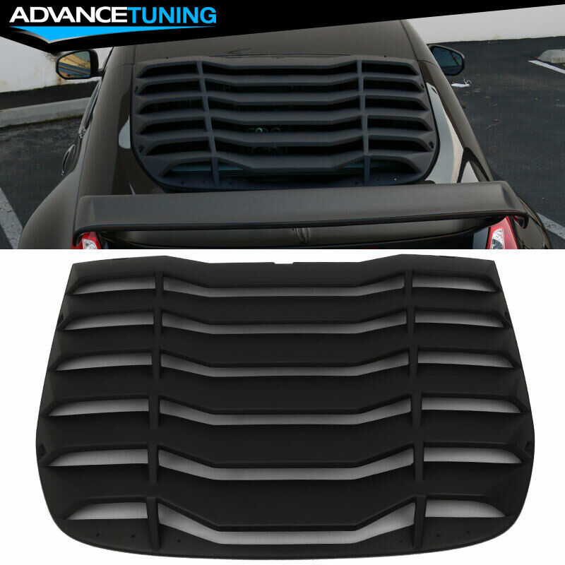 Fits 09 17 Nissan 370z Ikon Rear Window Louver Cover Abs