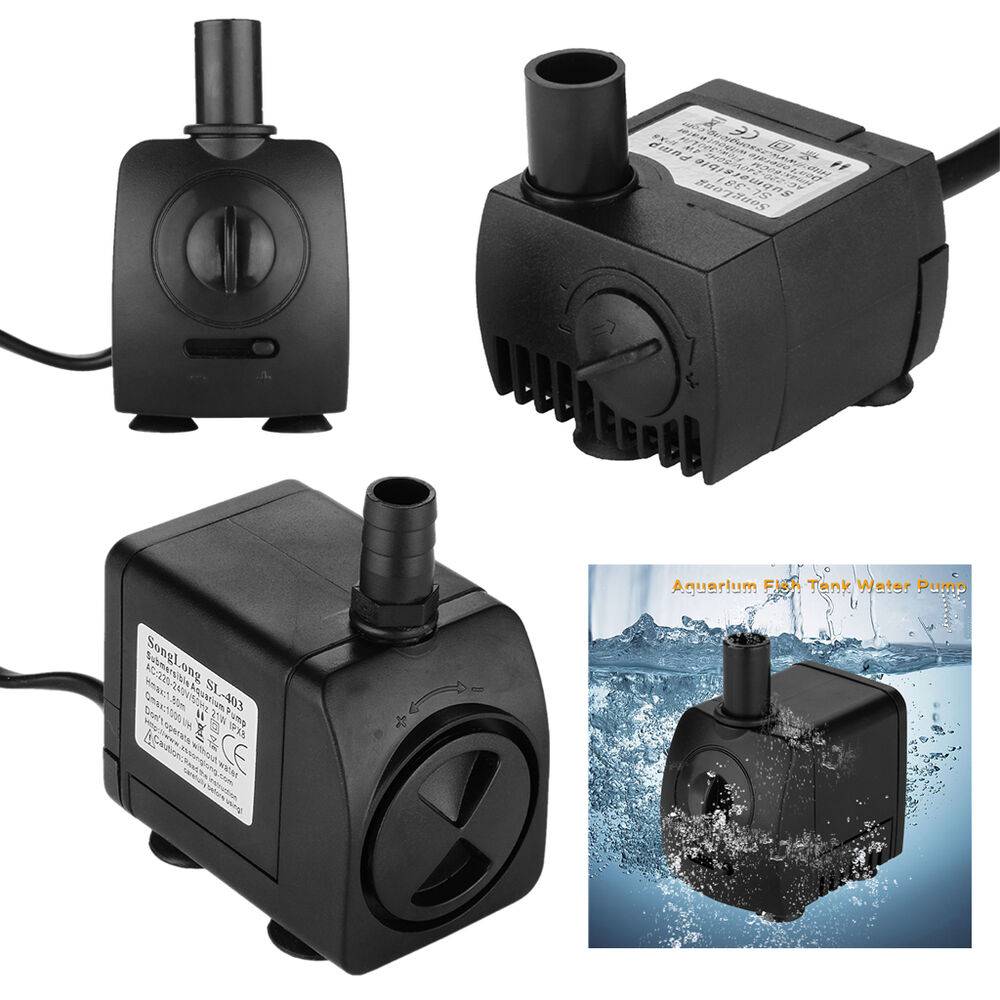 Submersible water pump aquarium fish tank pond fountain for Fish tank water pump