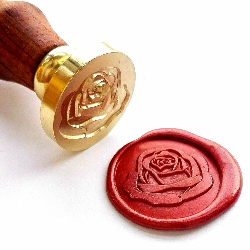 Vooseyhome The Rose Wax Seal Stamp with Rosewood Handle ...