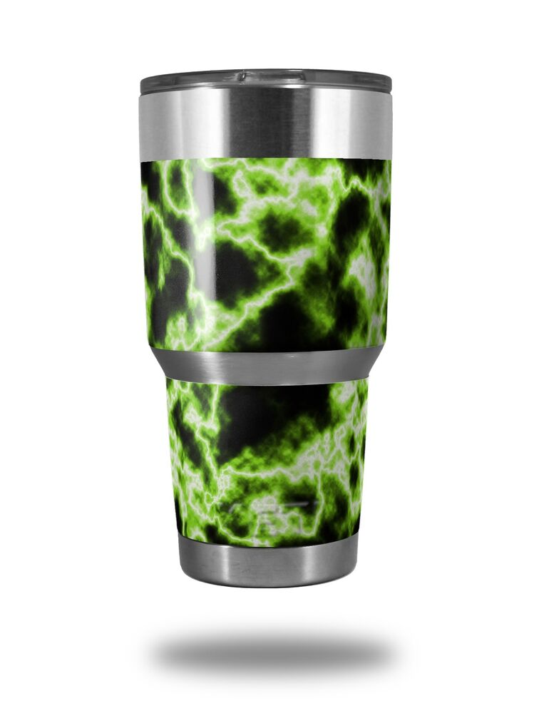 250946bab4e Details about Skin for Yeti Rambler 30oz Electrify Green TUMBLER NOT  INCLUDED