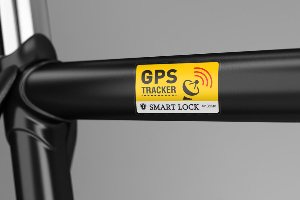 2x anti theft bike gps sticker gps tracking strong lock. Black Bedroom Furniture Sets. Home Design Ideas