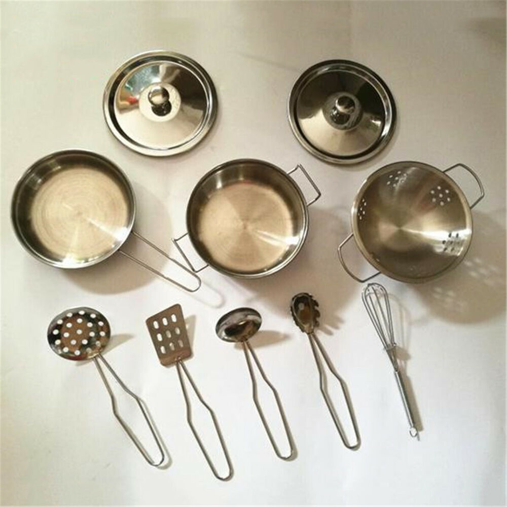 Kitchen Set Pots And Pans: 1Set Stainless Steel Cookware Kitchen Cooking Set Pots