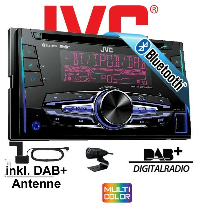 jvc kw db92bt 2din usb bluetooth dab autoradio inkl. Black Bedroom Furniture Sets. Home Design Ideas