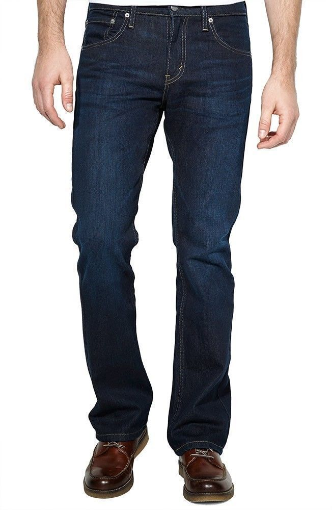 Genuine LEVIS 527 Slim Bootcut Mens Jeans Indigo Black ...
