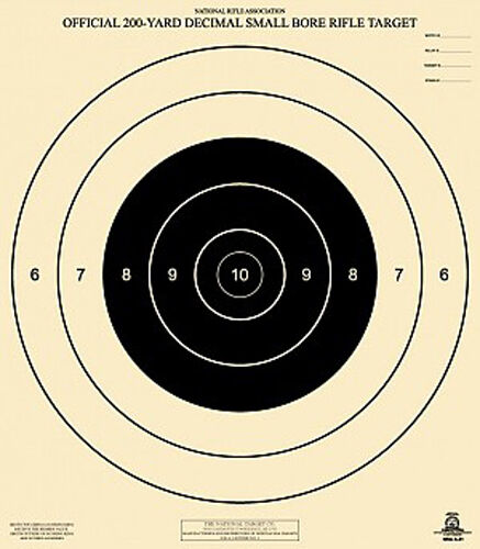 Official NRA A-21 [A21] 200-Yard Decimal Small Bore Rifle ...