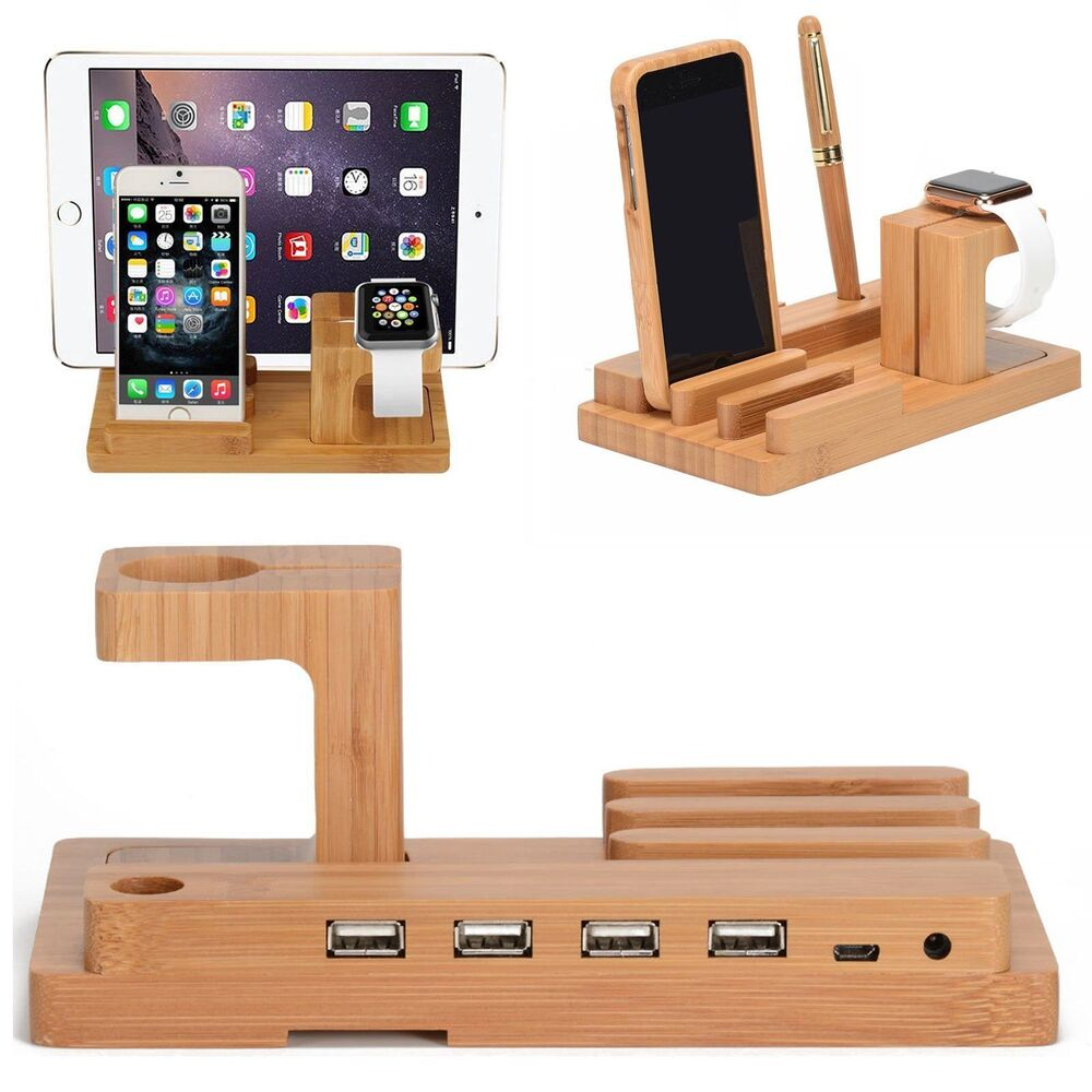 iphone desk stand desktop wood charge dock stand holder for apple 11799