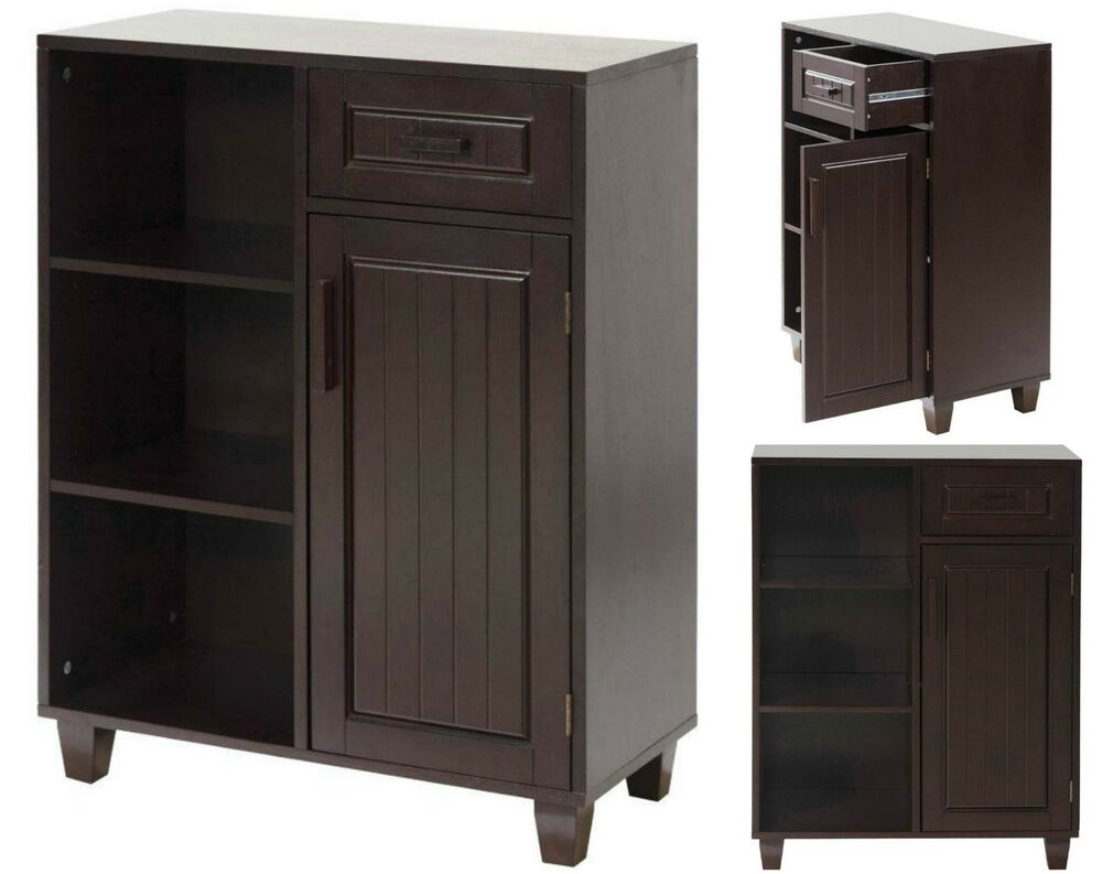 Bathroom Storage Cabinet Wood Floor Kitchen Lavatory