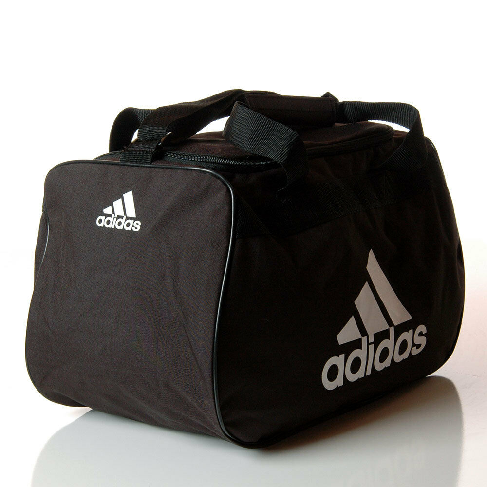Small Gym Bodybuilding Black Leather Fitness Lifting: Adidas Diablo Small Duffle Bag Black & White Workout