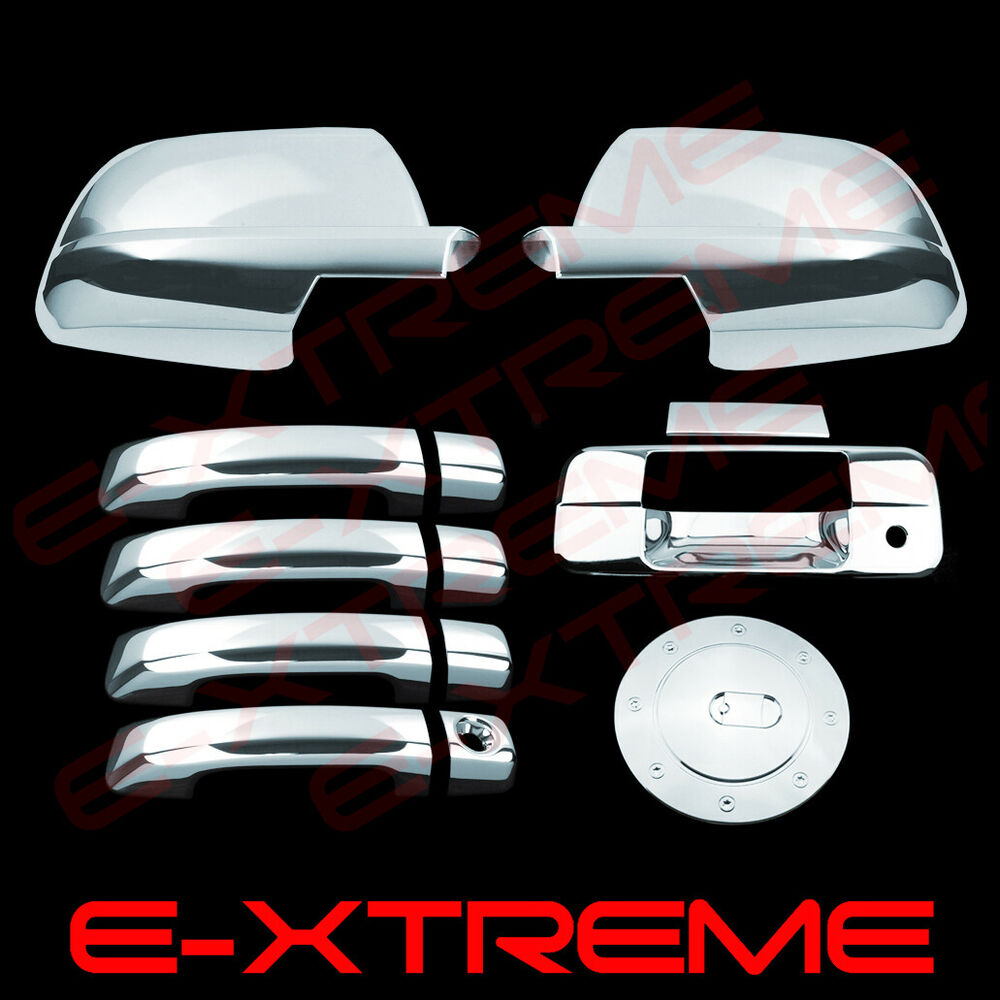 Fit Toyota Tundra 2007 2012 2013 Chrome Mirror Door Handle