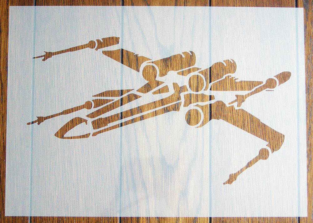 X wing star wars stencil reusable mylar sheet for arts for Arts and crafts stencils craftsman