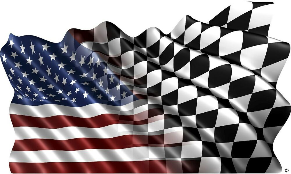 American Checkered Flag Decal Camper Rv Motor Home Mural
