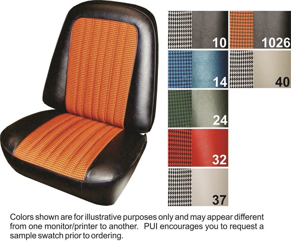 Ebay Car Seat Covers >> 1971-72 Cheyenne / Blazer Deluxe Houndstooth Front Seat Covers - PUI   eBay