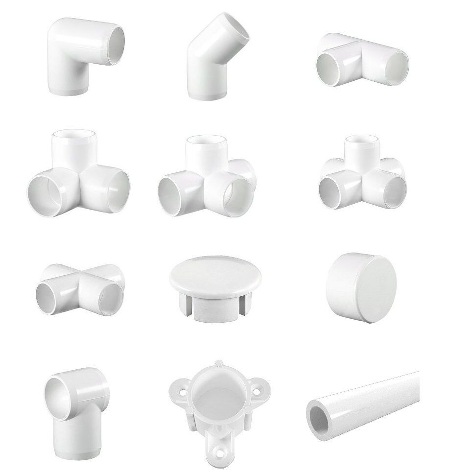 Pvc Pipe Corners : White display furniture grade pvc pipe and fittings
