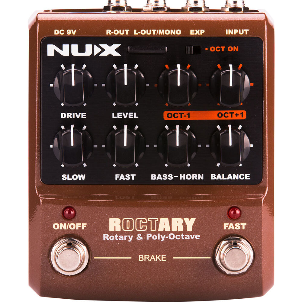 nux roctary rotary speaker simulator polyphonic octave guitar effects pedal 885947102143 ebay. Black Bedroom Furniture Sets. Home Design Ideas