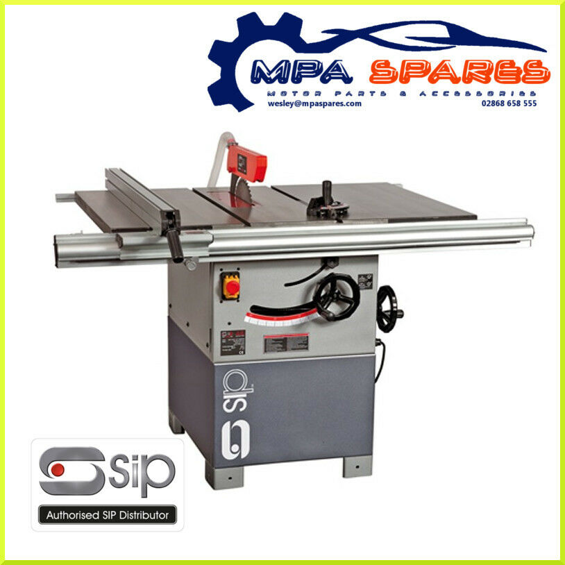 Sip 01332 10 professional cast iron table saw 3hp 230v for 10 cast iron table saw