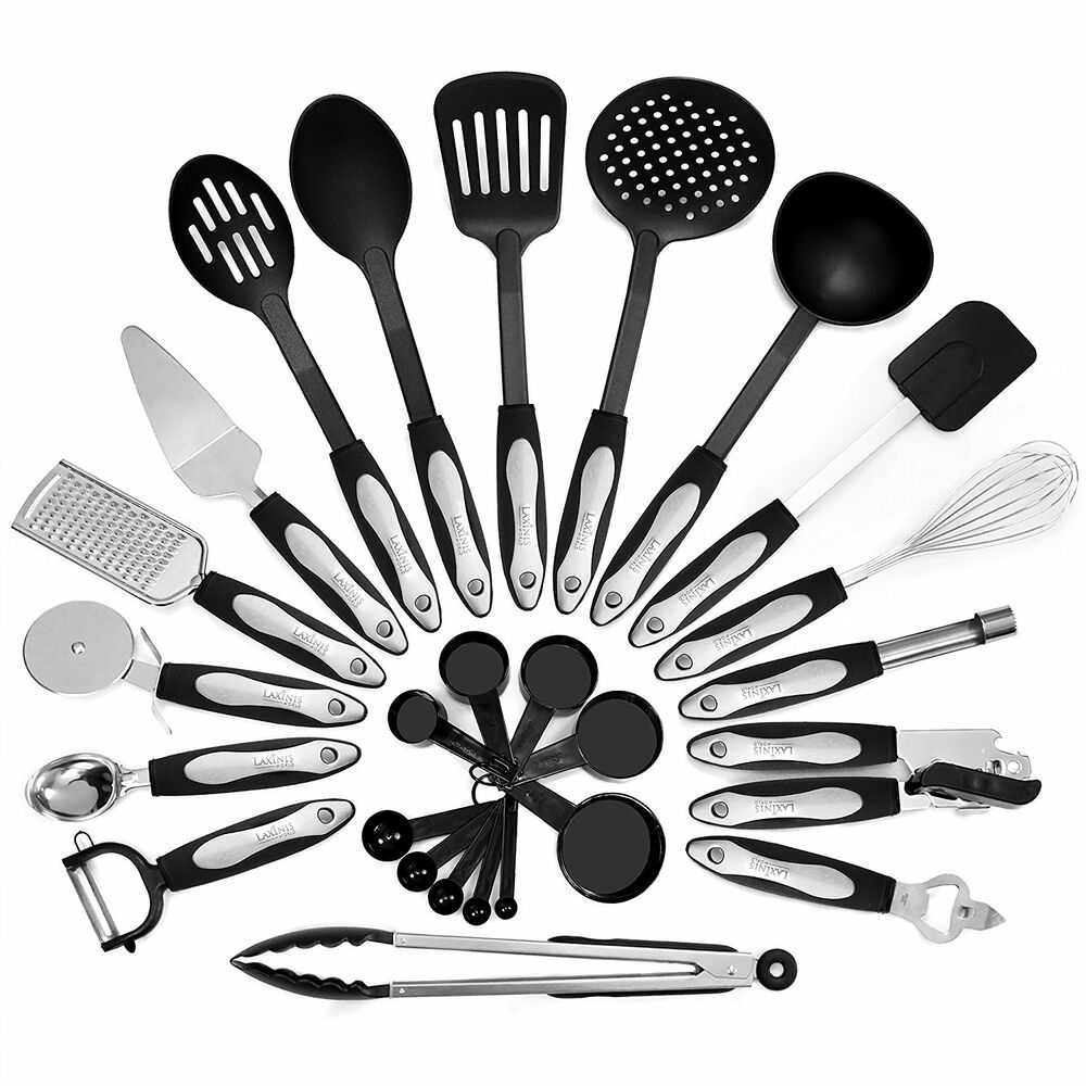 26 Piece Kitchen Utensils Set & Cooking Tools, Stainless