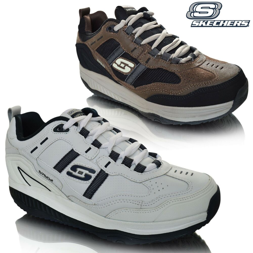 A Runner Shapes Up A Tired Staircase: Mens Skechers Shape Ups Xt Premium Comfort Trainers