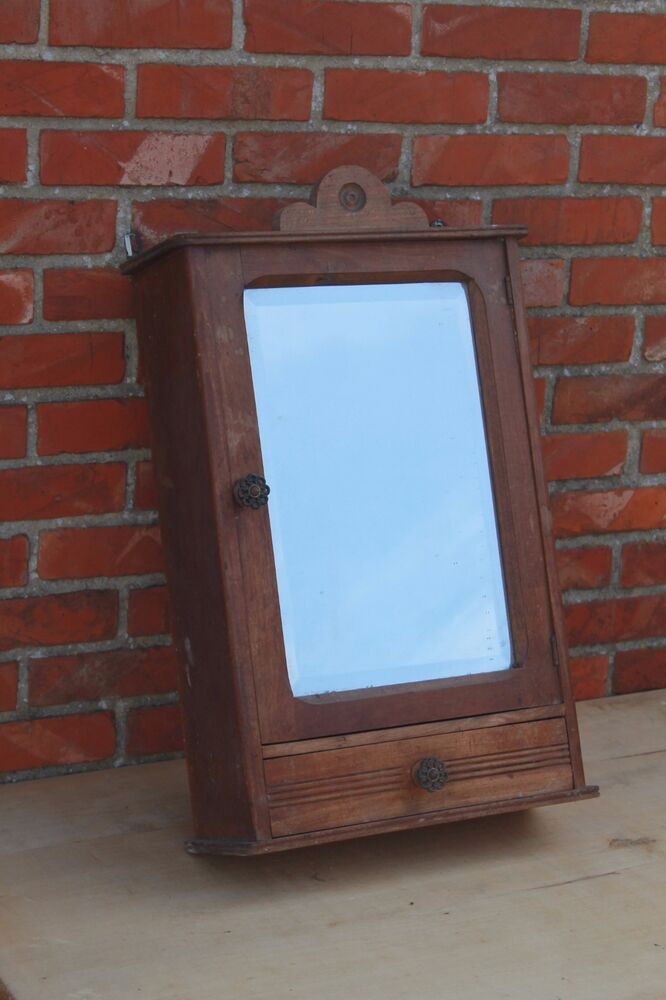 Antique French Medicine Kitchen Cabinet Mirror Wall Cabinet EBay