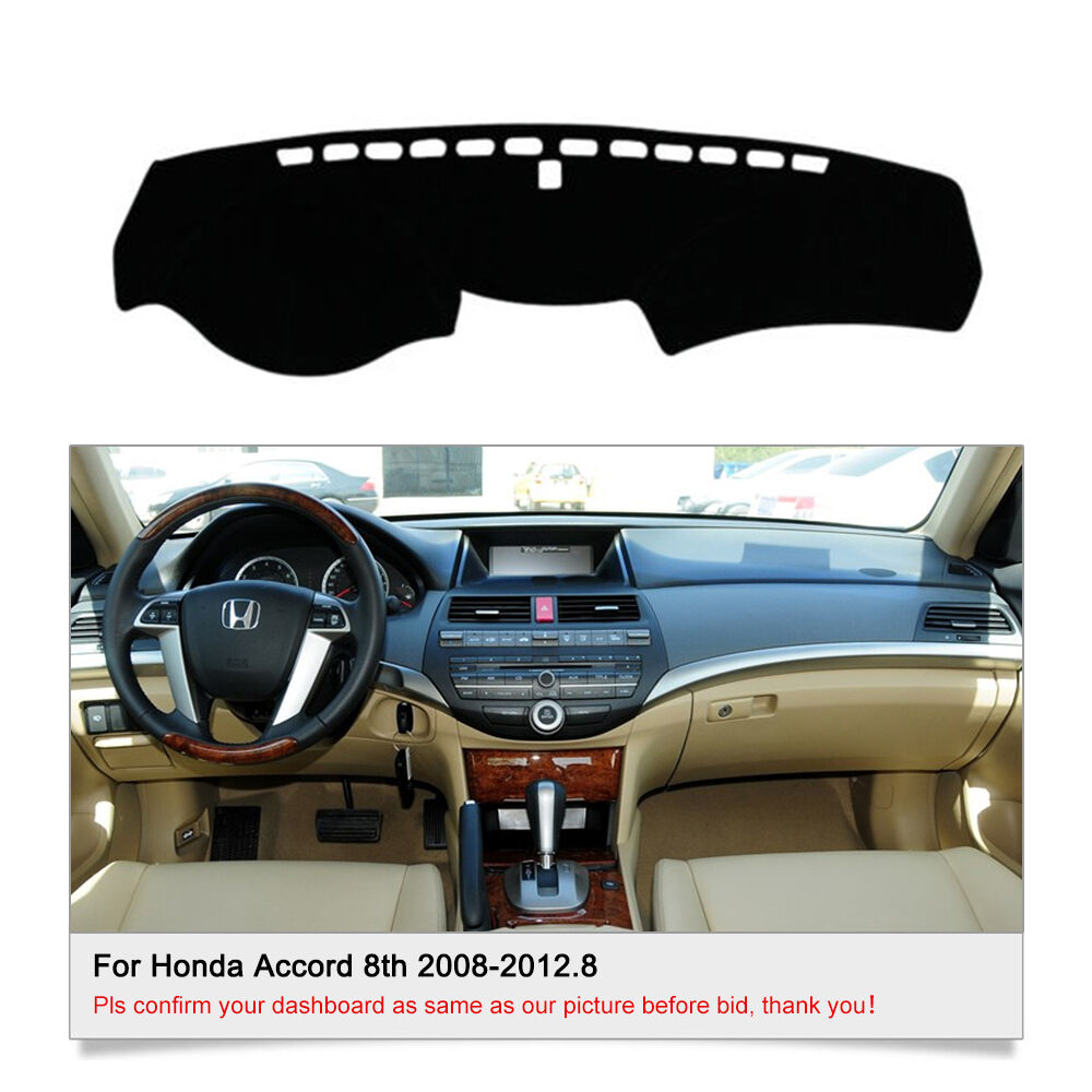 dashmat dash cover mat for honda accord 2008 2012 8 dashboard cover set fly5d ebay. Black Bedroom Furniture Sets. Home Design Ideas