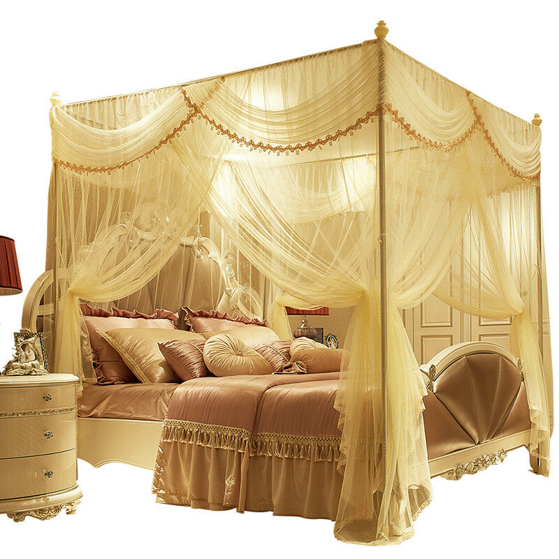 Modern Mosquito Net Bed Netting Canopy Summer Bed Curtain Stainless
