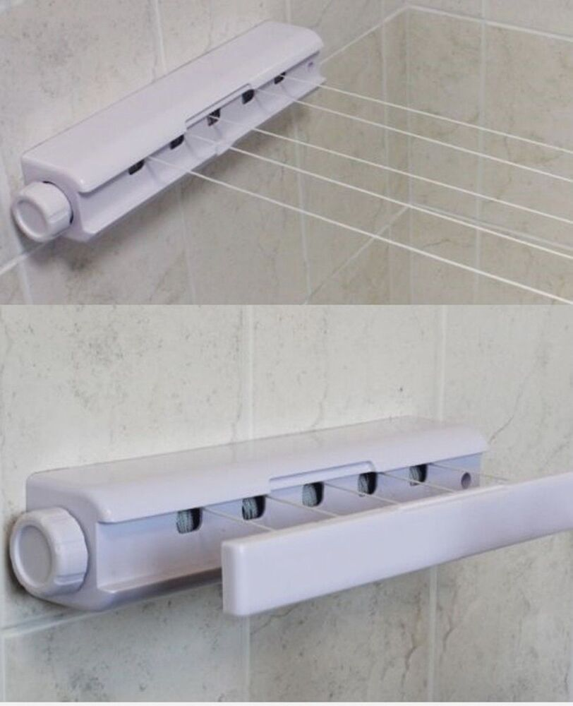 Retractable 18m Washing Line Indoor Wall Mounted 5 Line