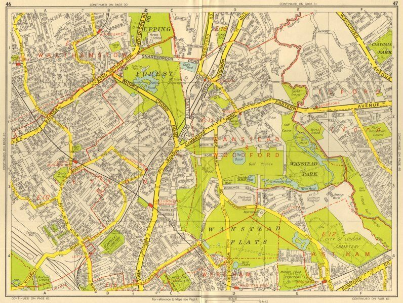 Sections Of London Map.London E Walthamstow Leytonstone Wanstead Snaresbrook Geographers