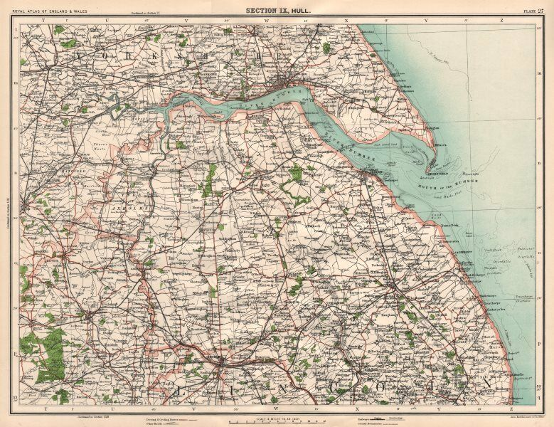 HUMBERSIDE & LINCOLNSHIRE WOLDS. Hull Grimsby Beverley Louth ...