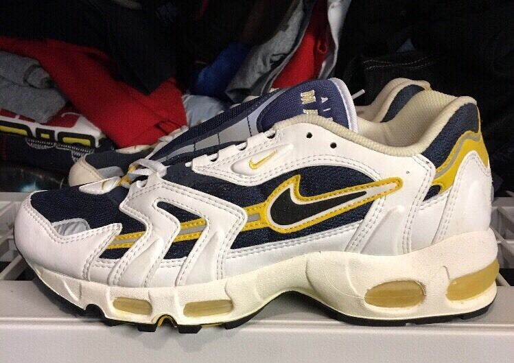 the latest 8e537 c4a0a ... Nike Air Max 96 Navy Yellow Ds 9 Og Vintage eBay . ...