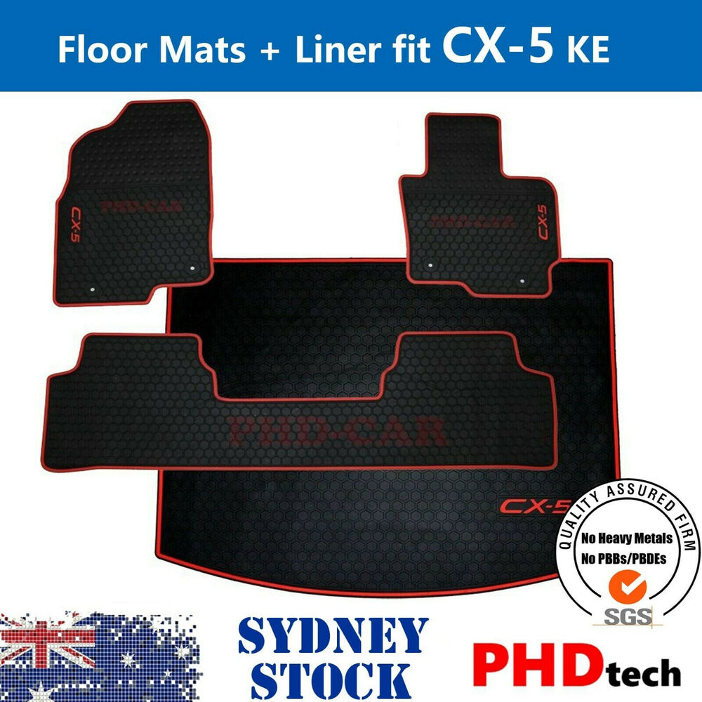 tailor made rubber floor mats cargo tray boot liner set mazda cx 5 ebay. Black Bedroom Furniture Sets. Home Design Ideas