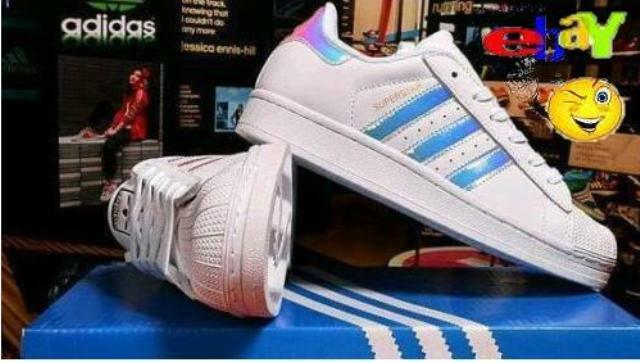 Adidas Superstar Shine Iridescent Limited Edition Sneakers Originals Uomo Donna | eBay