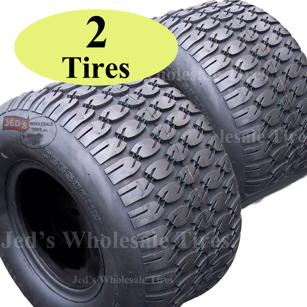 Two 18x9 50 8 Tires For Zero Turn Riding Lawn Mower Garden