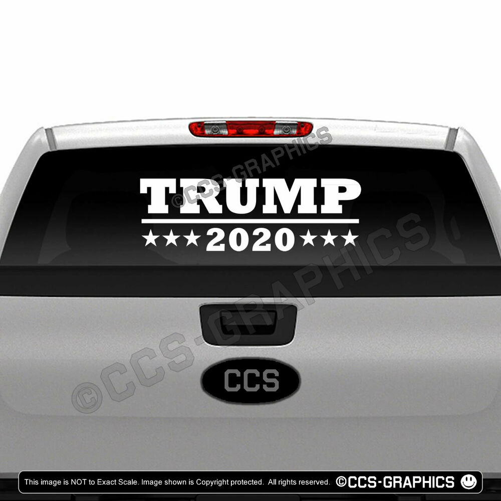 Details about trump 2020 decal 5 sizes or bulk window sticker 22 30 inch large