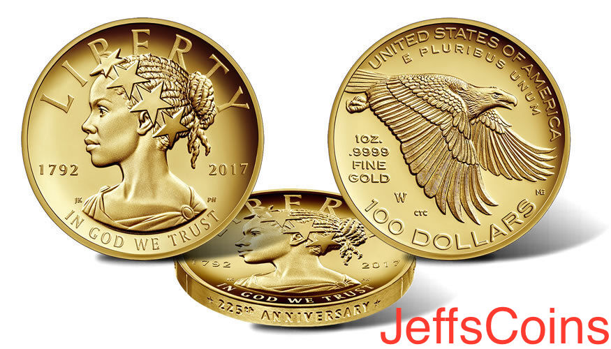 2017 W American Liberty 225th Anniversary Proof Gold Coin