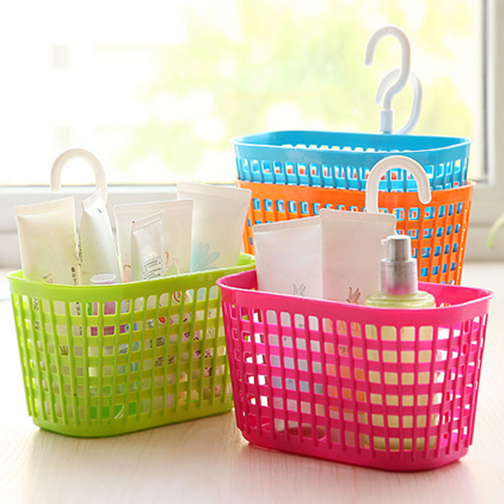 Plastic Hanging Storage Baskets Bathroom Kitchen Study