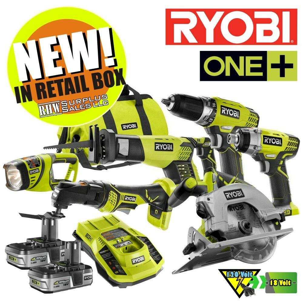 ryobi p884 one 18 volt lithium ion ultimate combo kit 6 tool nib ebay. Black Bedroom Furniture Sets. Home Design Ideas