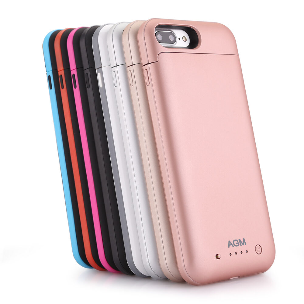 portable iphone 7 plus 7000mah power pack external battery charger charging case ebay. Black Bedroom Furniture Sets. Home Design Ideas