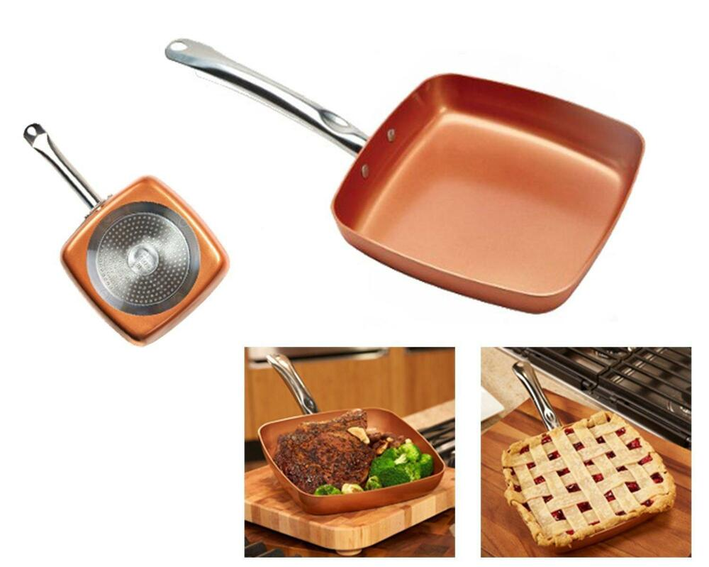 Copper Chef 9 5 Quot Square Nonstick Fry Pan Cook Kitchen