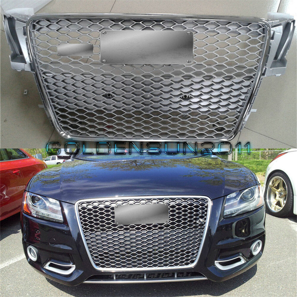 Audi A5 With Rs5 Grill: RS5 Front Sportback Sline Euro Gunmetal Grille For Audi A5