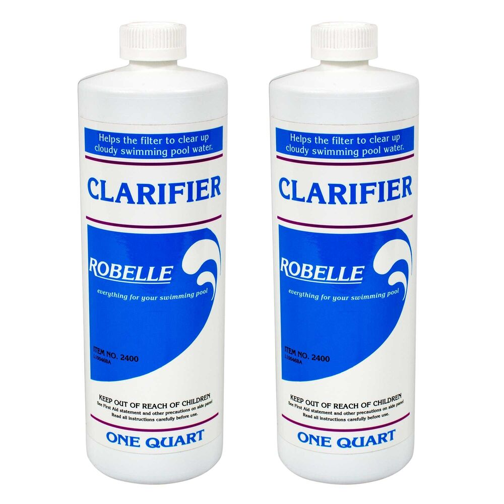 Robelle swimming pool spa hot tub clarifier chemical 2 for Pond chemicals