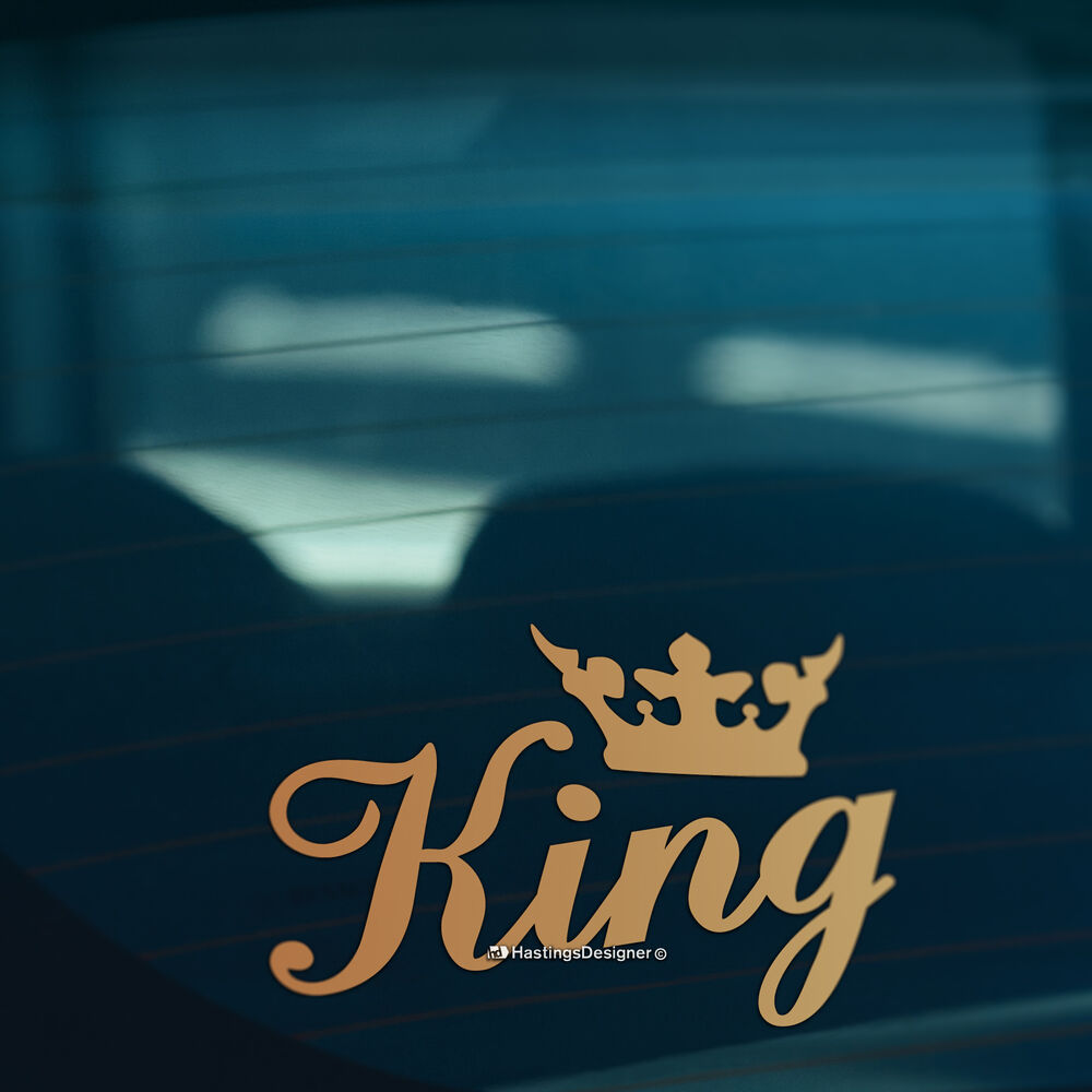 Details about king crown gold funny carwindowbumper or laptop dub drift vinyl decal sticker