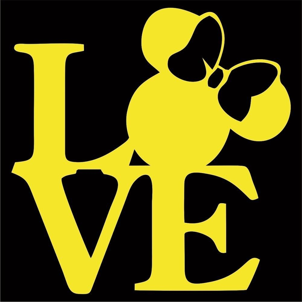 Details about minnie mouse love vinyl decal sticker choose color size disney mickey