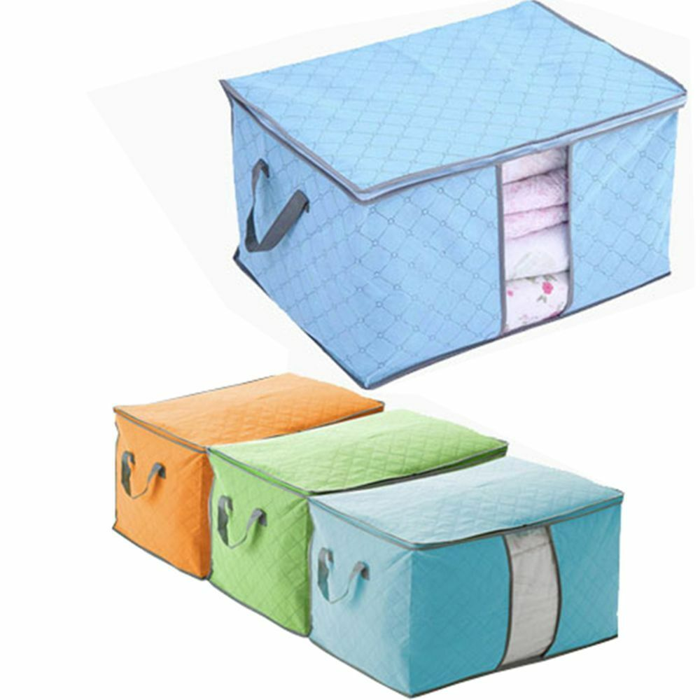 clothes quilt underbed box pillow blanket container case
