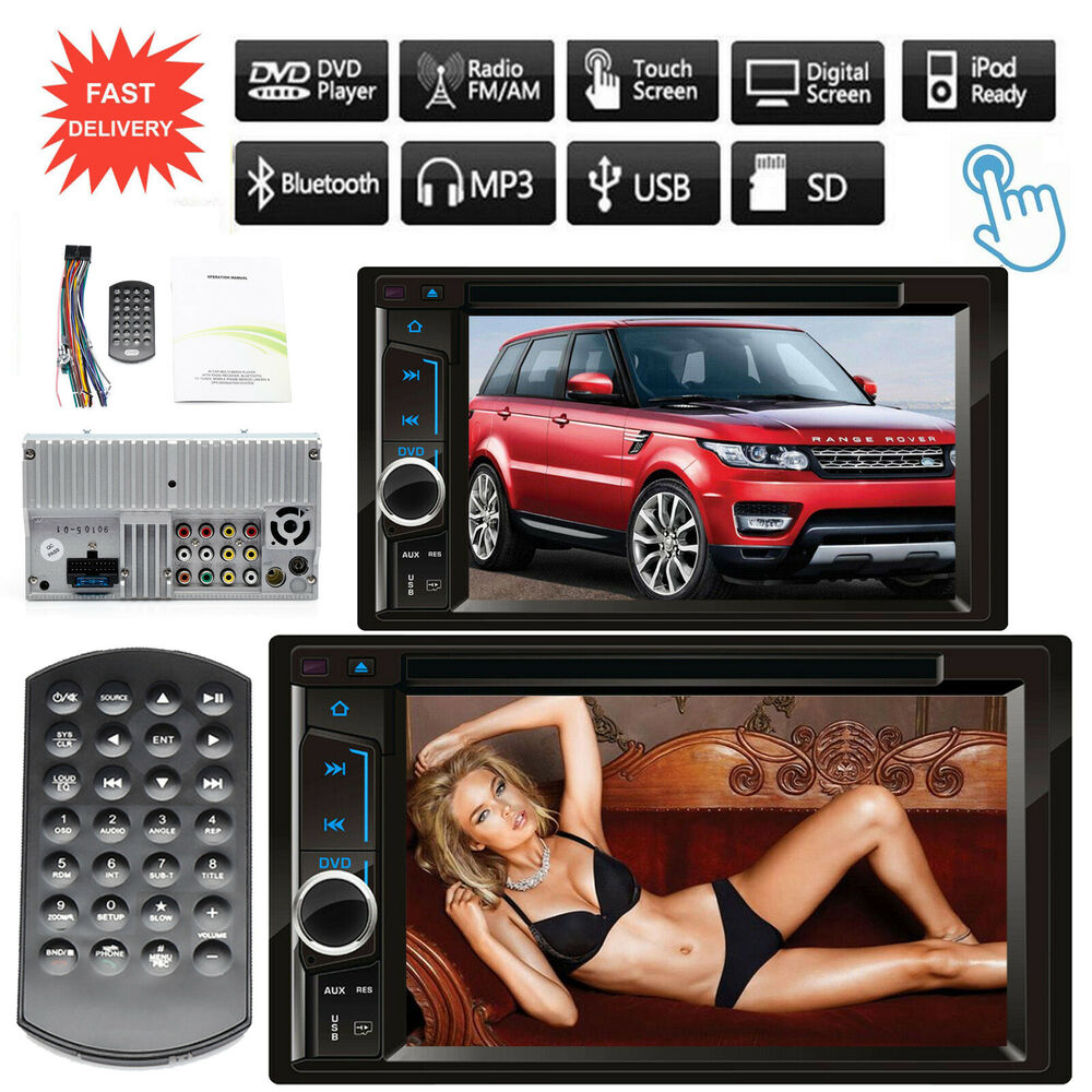 Touch Screen 2 DIN In Dash Bluetooth DVD Player Car Stereo