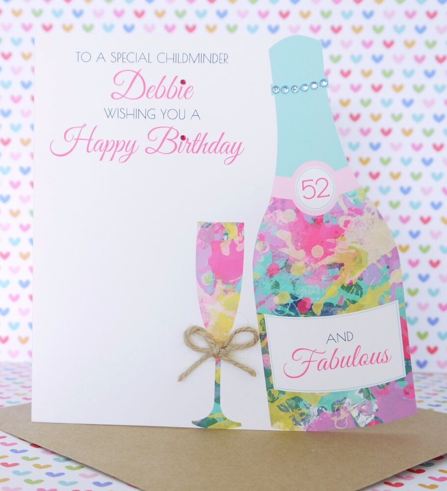 Personalised Handmade Birthday Card 40th50th60th70th